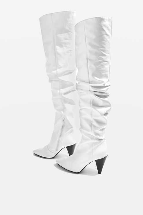 Boxer High Leg Boots. Available in three colors. Topshop. Was: $190. Now: $90.