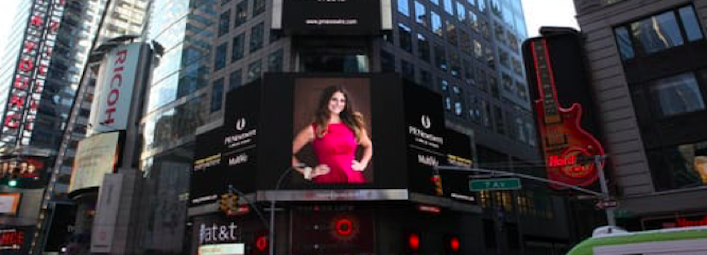 I used to work in Times Square and I can't imagine how surreal it must have been for Simply Matchmaking Founder, Ali Migliore, to be on the  Jumbo Screen . When I saw this photo, I HAD to include it.