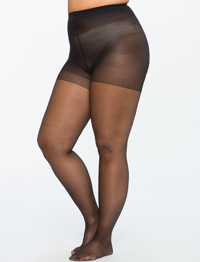 Sheer Tights. Available in nude, black. Eloquii. $16. Additional 40% off with code: DAY3.