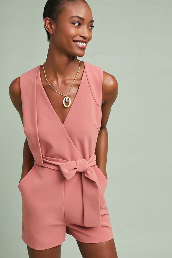 I can never get enough rompers. This one can be worn year-round with the proper hosiery in cold weather or bare legs when it's warm outside. Never underestimate the sophistication of a quality romper. Layer a jacket over top to finish the look.  Rosy Belted Romper. Anthro. $118.