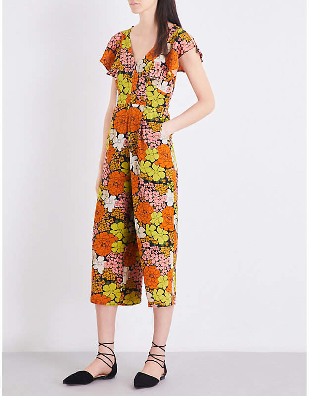 A love it or hate it item. I love it. And I can see my client, Kate, in my mind, rocking this one as I type.  Whistles Tangerine Dream floral silk jumpsuit. Selfridges. Was: $102. Now: $85.