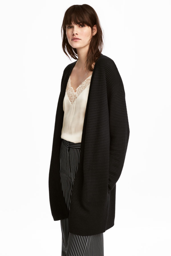 Rib-knit Cardigan. Available in three colors. H&M. $39.