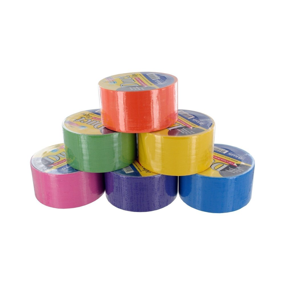 I prefer colors because they are fun to have around the house for mailing packages, etc.Bazic Fluorescent Colored Duct Tape, Assorted Colors, Pack of 6, 1.89-inch x 10 Yard. Amazon. $10.