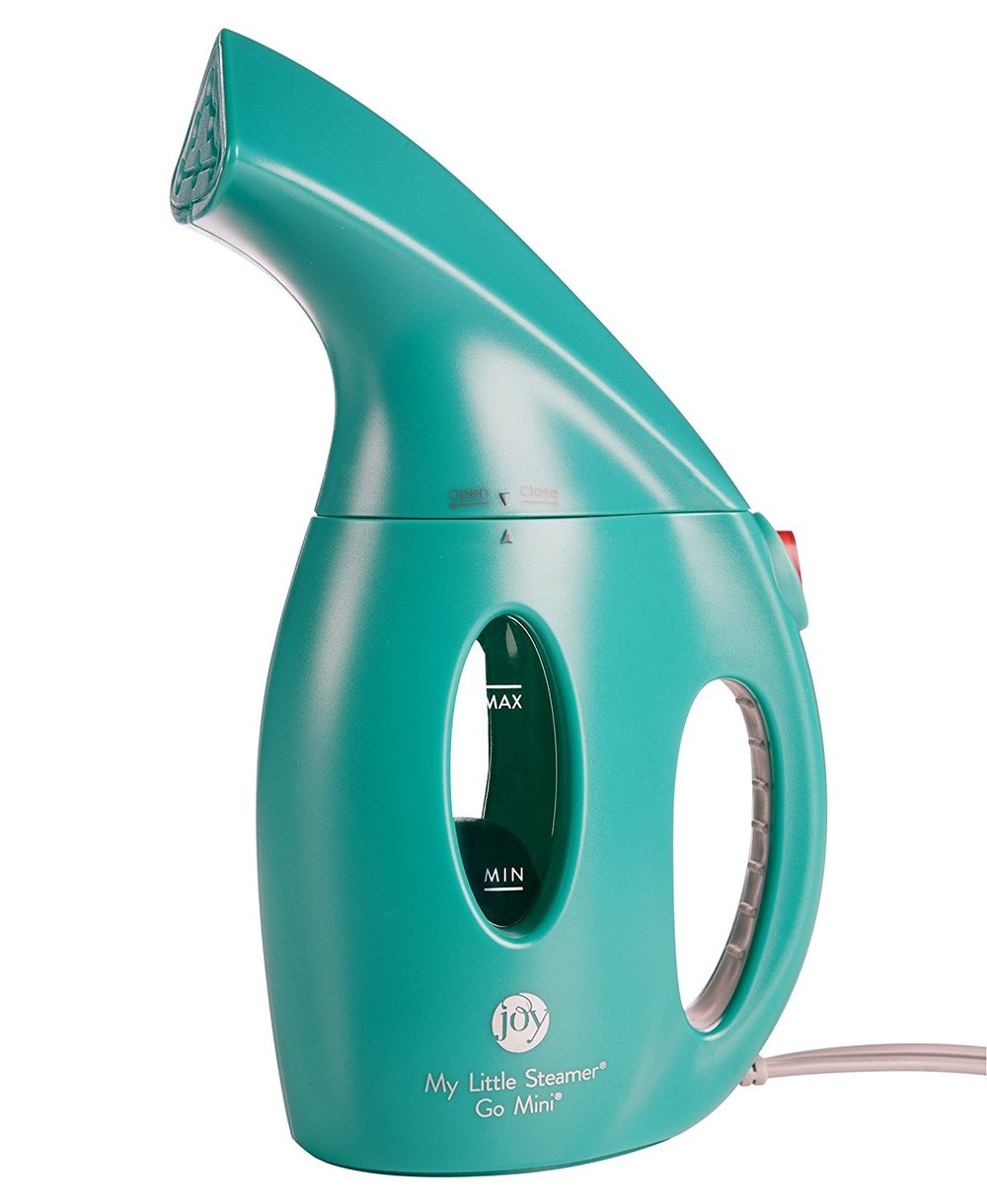 Joy Mangano My Little Steamer Go Mini, Teal. Available in multiple colors. Amazon. $25 + Free shipping.
