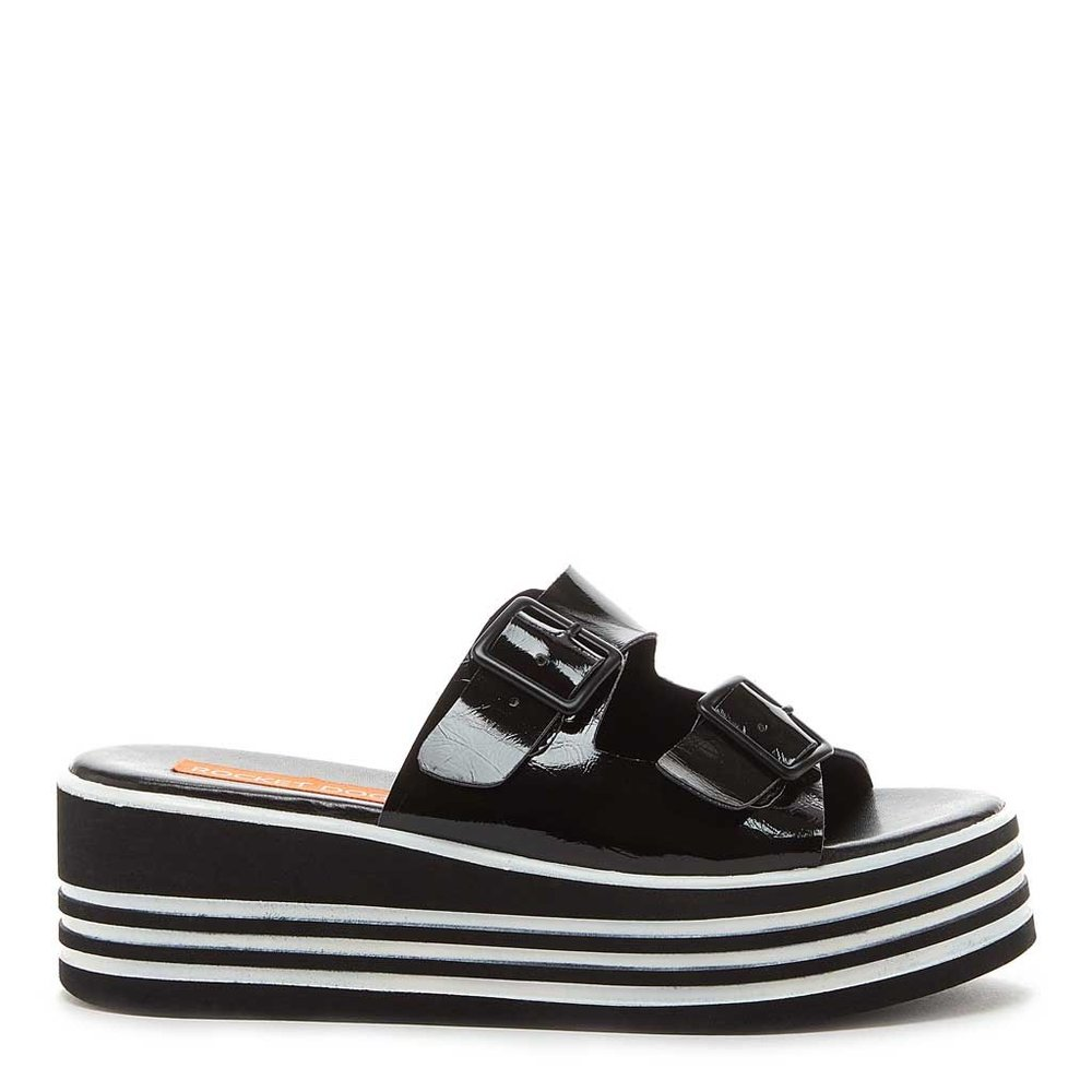 Zanter Black Stripe Wedge Platform Sandal. Rocket Dog. $59. Additional 30% off with code: RDMEMORIAL30.