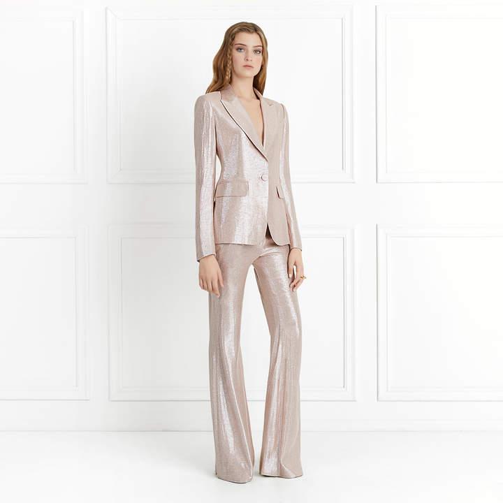 Rachel Zoe Lauren Metallic Suiting Wide-Leg Pants. Rachel Zoe. Was: $395. Now: $277.