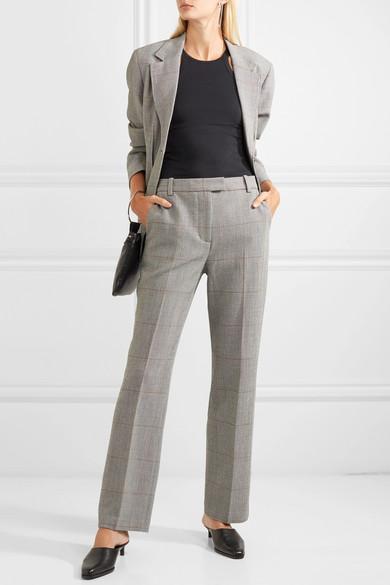 3.1 PHILLIP LIM Checked wool-blend blazer. $895. 3.1 PHILLIP LIM Checked wool-blend straight-leg pants. $550.