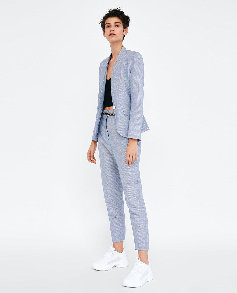 STRIPED PANTS WITH BELT. Zara. Was: $44. Now: $22.