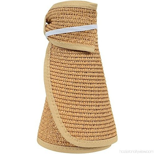 NobleScore Women's UPF 50+ Packable Wide Brim Roll-Up Sun Visor Beach Straw Hat. Available in multiple colors. Amazon. $15.