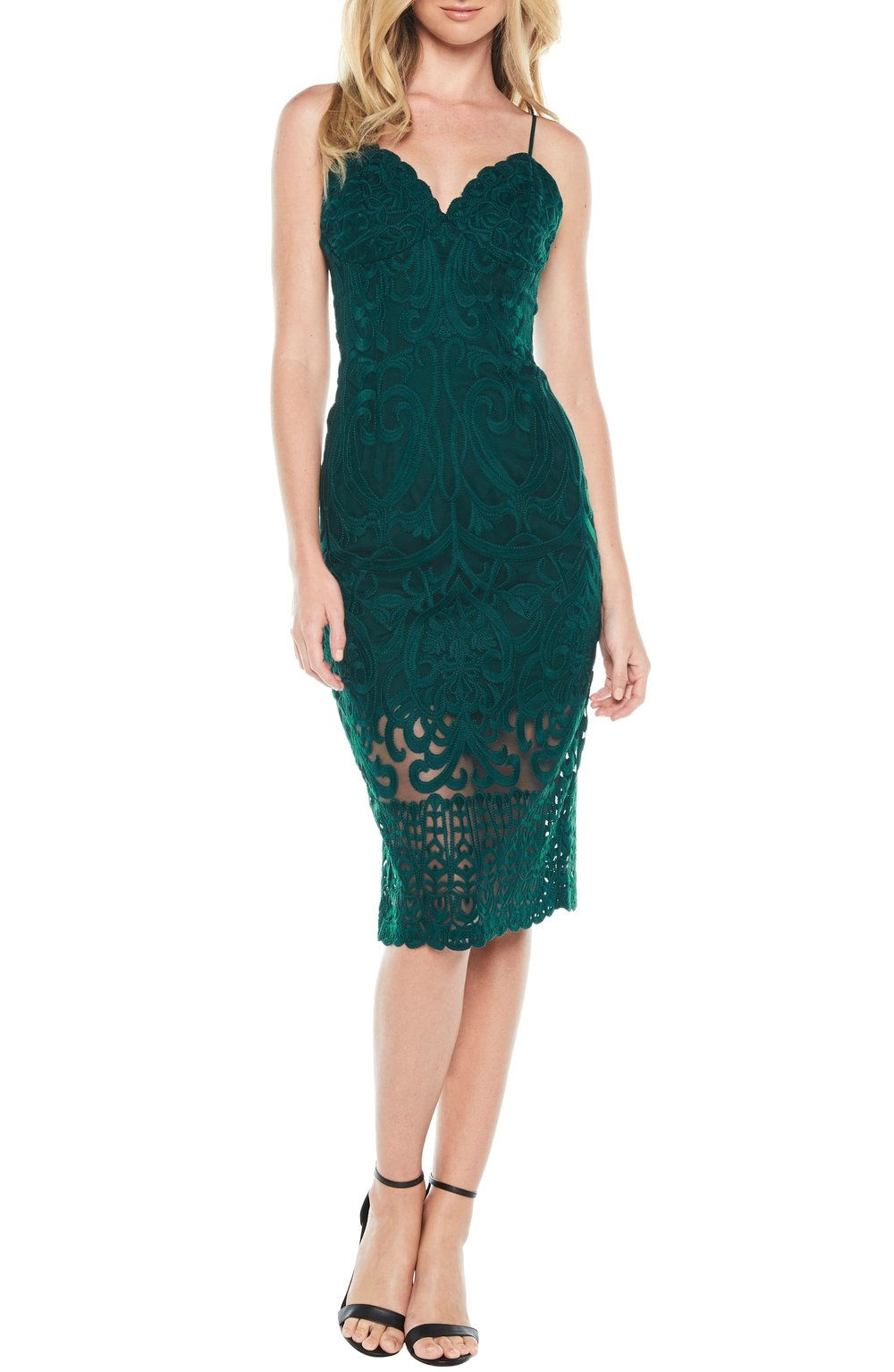 Bardot Gia Lace Pencil Dress. Available in two colors. Nordstrom. $159.