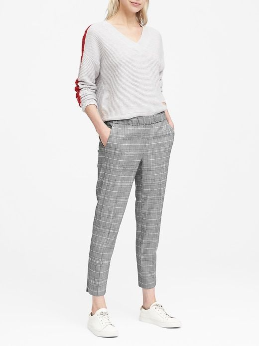 Hayden Tapered-Fit Pull-On Plaid Ankle Pant. Banana Republic. $98.