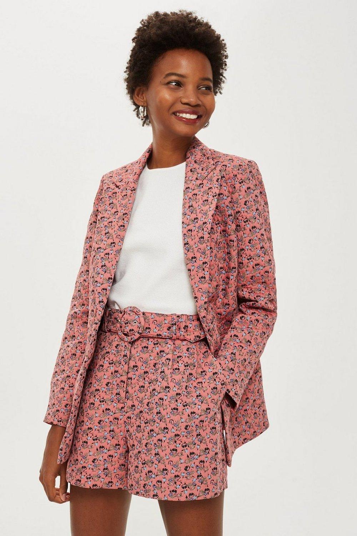Floral Jacquard Suit. Topshop. $200.