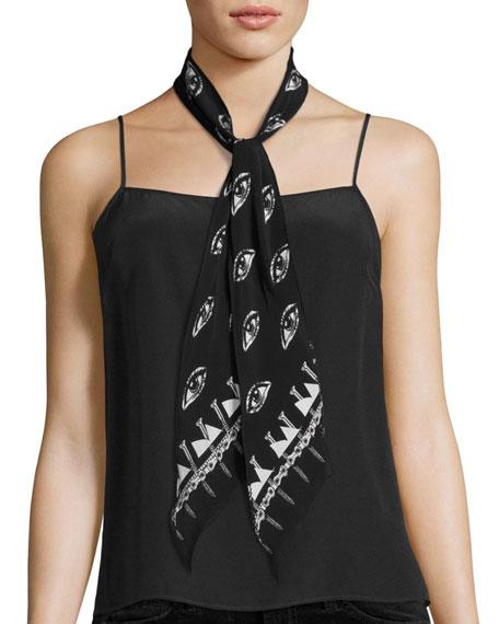 Rockins Eyes Super Skinny Silk Scarf. Neiman's.Was: $130. Now: $39.