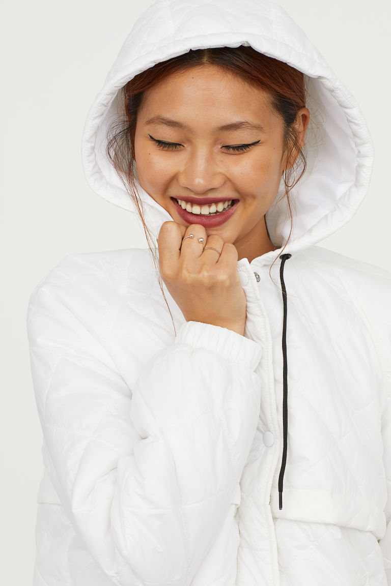 Quilted Jacket with Hood. Available in three colors. H&M. $39.