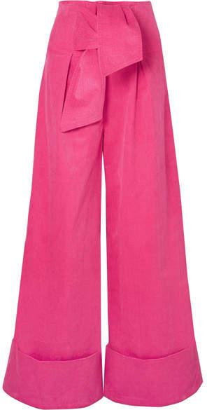 PAPER London - Twin Stretch-cotton Corduroy Wide-leg Pants . Net-a-Porter. $330.