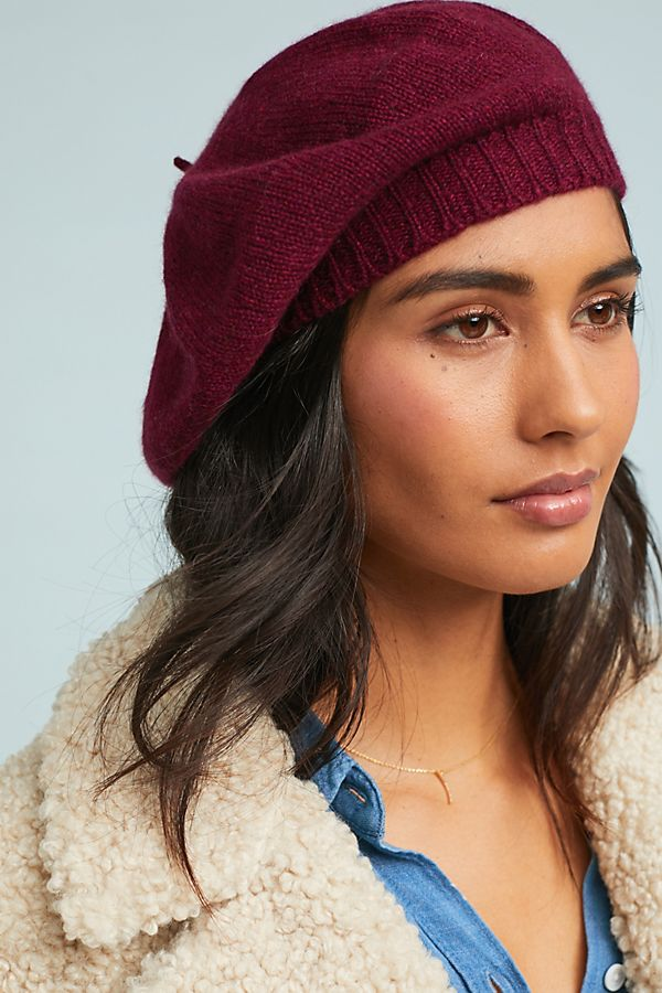 Cashmere Beret. Available in multiple colors. Anthro. $98.