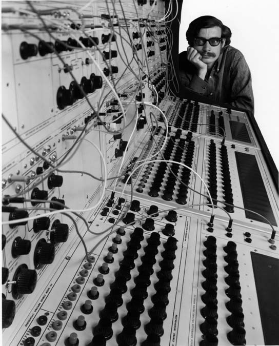 Don Buchla at his System 100