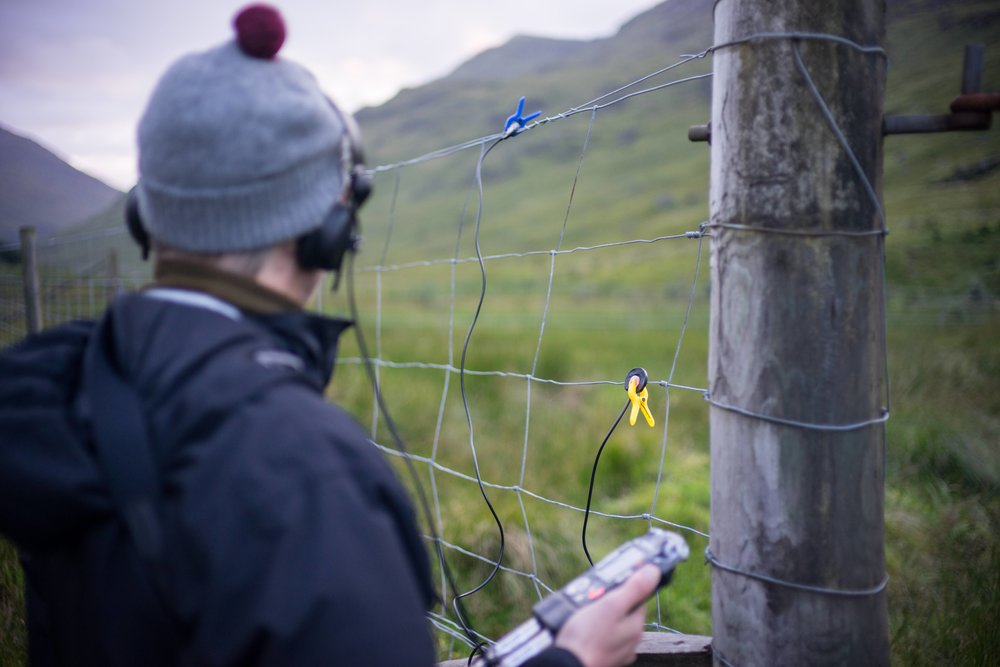 Recording the fence - Images by Curtis James