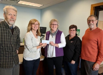 L to R:  Mark Buley, village Treasurer, Jen Phrenetton, Nancy Buley, Tammy Seebach and Lloyd Wilson