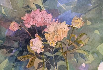 Priscilla Hill, watercolors