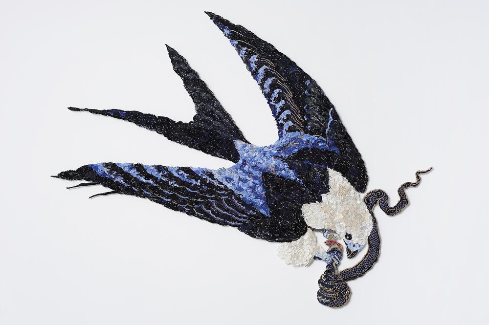 Lucy's Kite 2011 after John James Audubon 1829