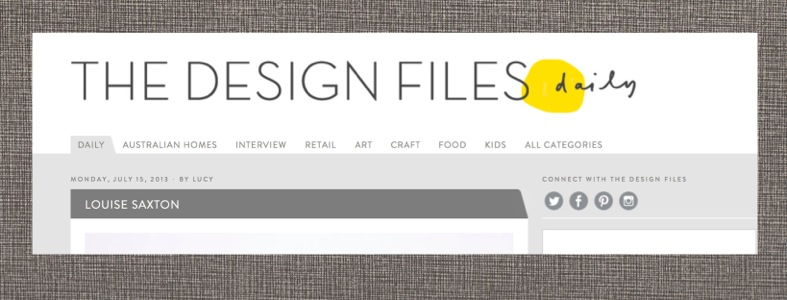 THE DESIGN FILES 2013