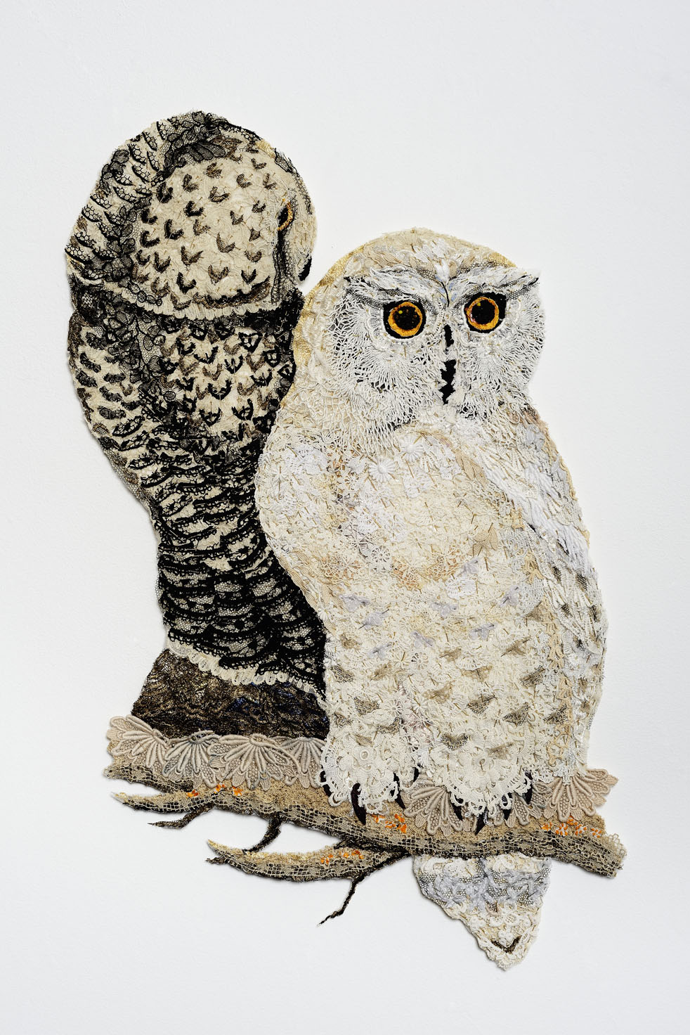 Bubo & Snow 2014 after Edward Lear 1832