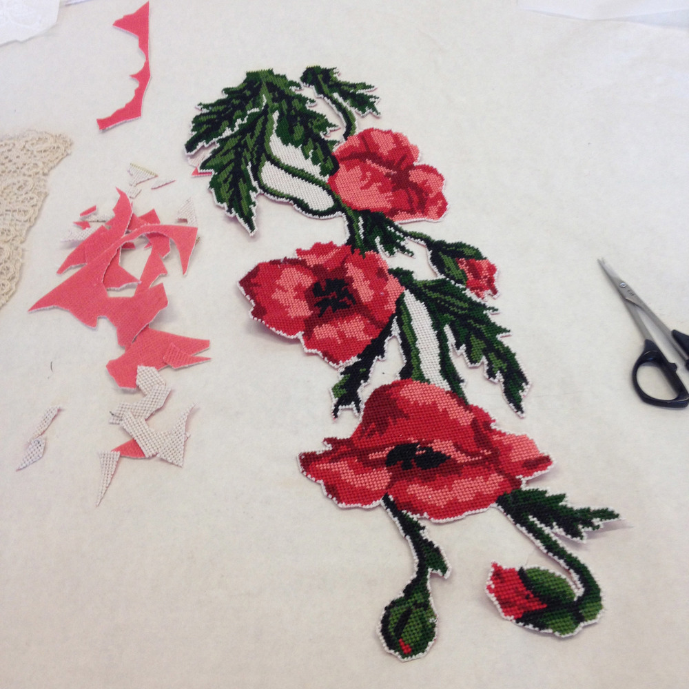 Needlepoint Poppies