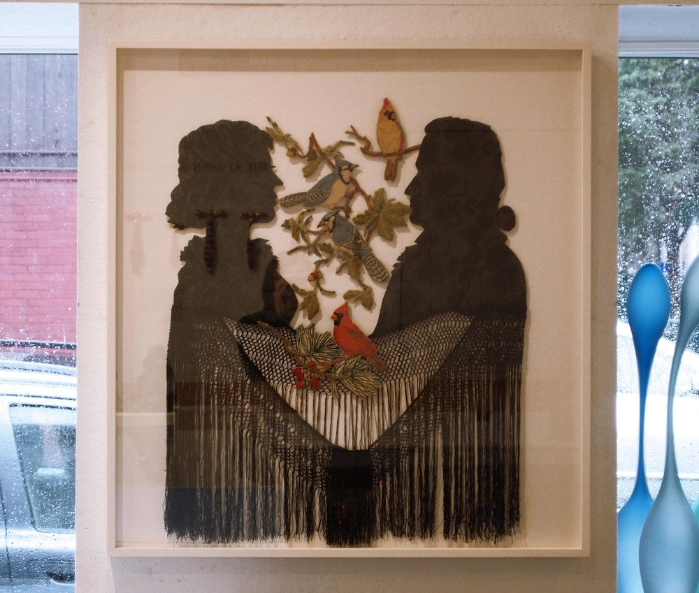 """Lucy & John 2014 (Silhouettes after Thomas Edwards 1825)"""