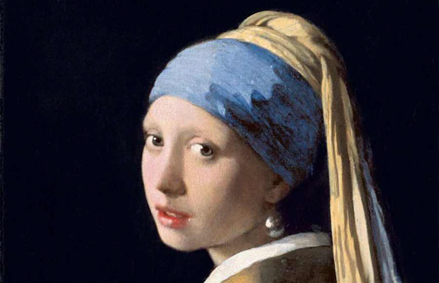 Detail - Girl With A Pearl Earring by Johannas Vermeer c1665