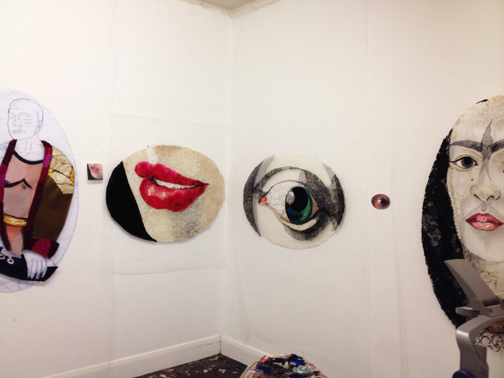 "Four works in progress for ""Lover's Eye Series"""