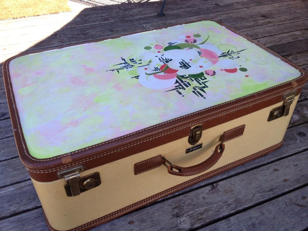 Renew Acrylic on Vintage Luggage