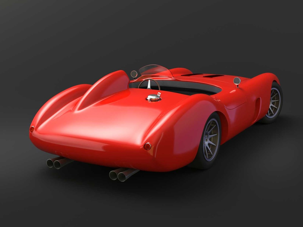 Vintage Racing Car Concept & Visualization, Rear