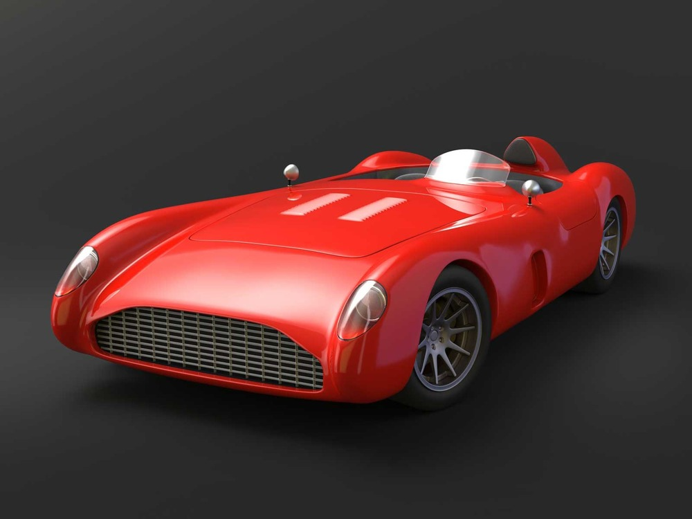 Vintage Racing Car Concept & Visualization, Front