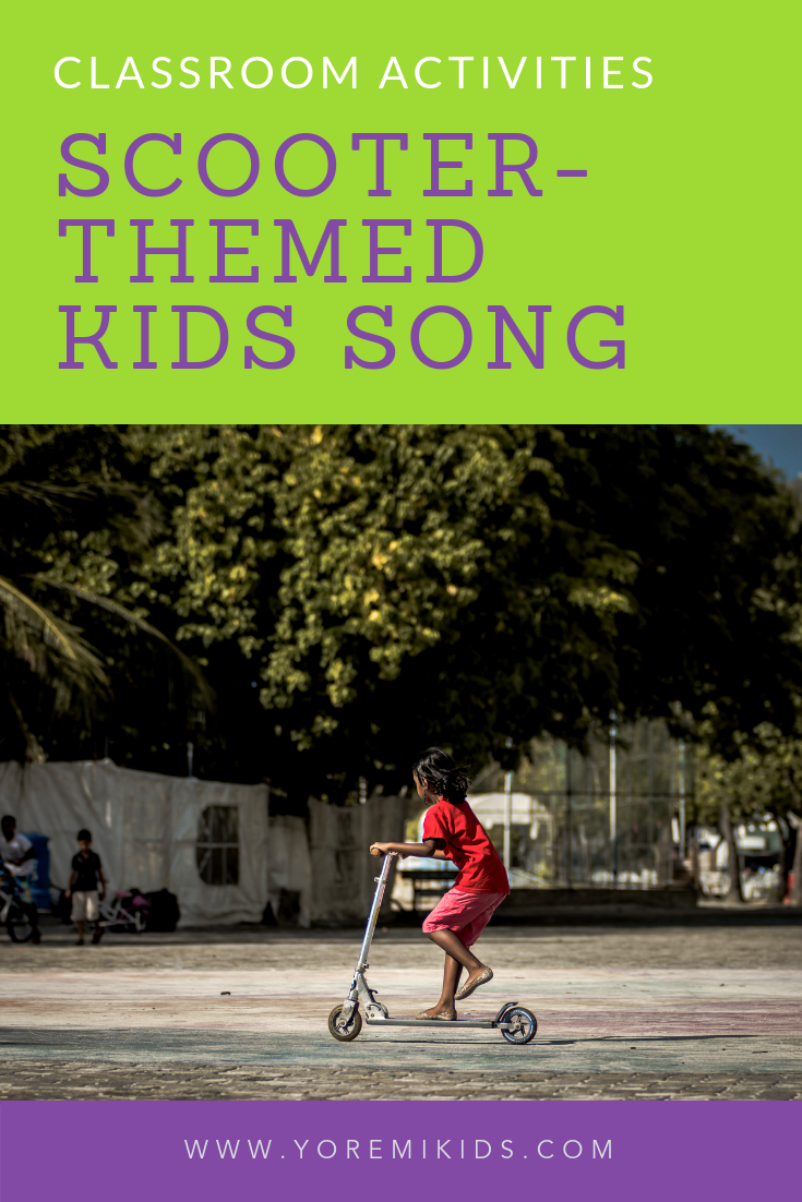 Kids scooter themed song for child development