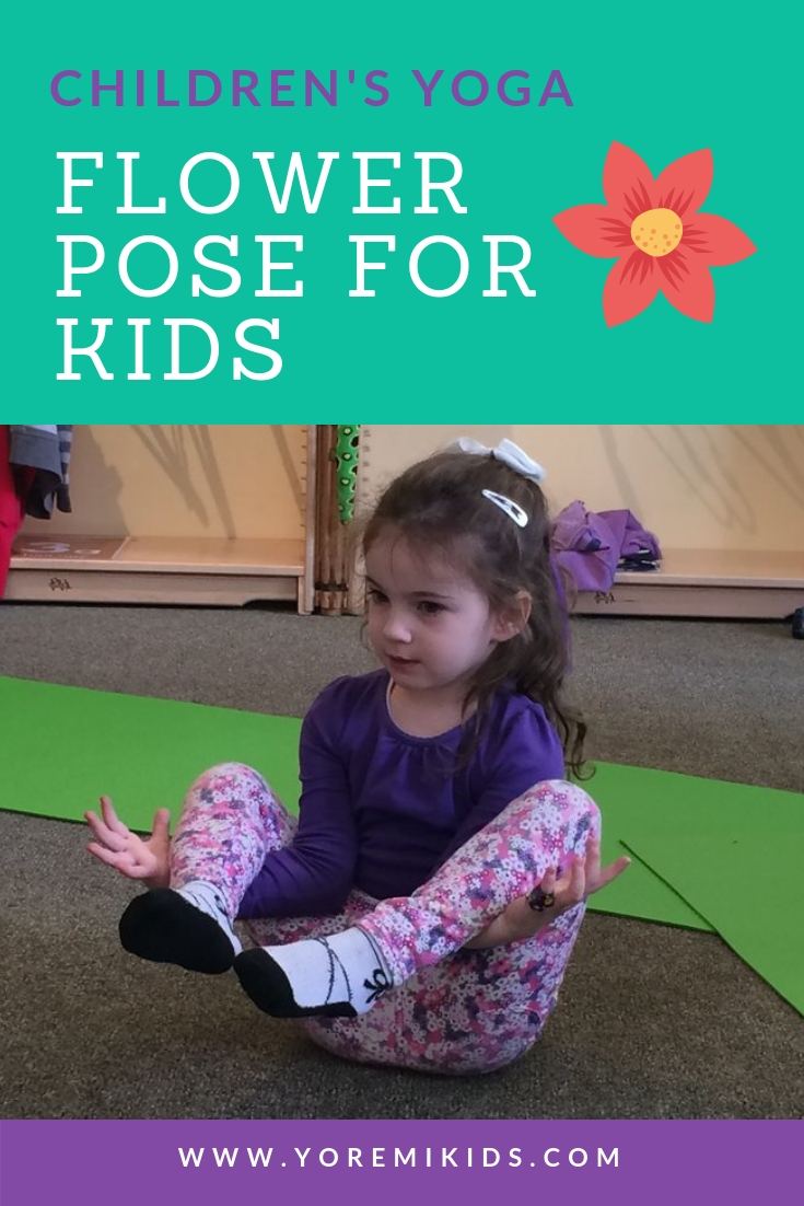 yoga and stretches for kids - Flower Pose - YRM