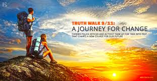 Banner created, for the actual trek, by AE911Truth -   read NOW about AE911Truth support for Truth Walk - the Jour  ney!