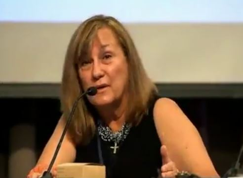 Jane Clark, Attorney at Law, Chairman of Lawyers Committee for 9-11 Inquiry, speaking on the mission of the Lawyers Committee, at the 9-11 Justice in Focus Symposium, NYC - 2013