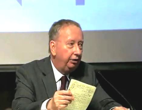 Mick Harrison, Esq., Executive Director of the Lawyers for 9-11 Inquiry, speaking Federal legal standards at the 9-11 Justice in Focus Symposium in NYC, 2013