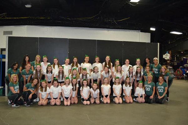SciCoh cheerleaders and Boston Celtics Dancers