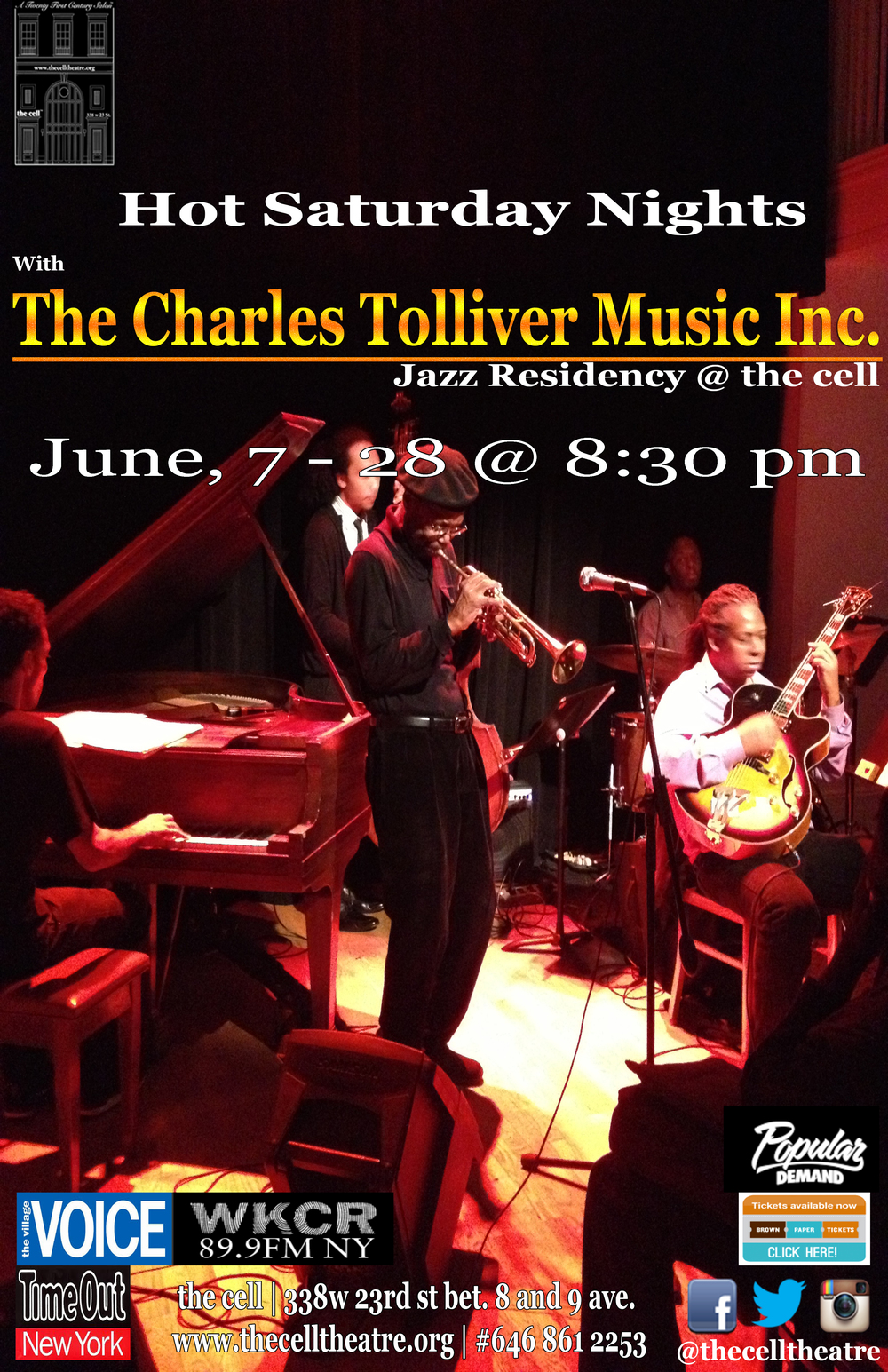 "Charles Tolliver began his professional career and simultaneously his recording debut with the saxophone giant Jackie McLean on Blue Note Records in 1964. Since then he has become one of the preeminent trumpeters in Jazz as well as one of its most gifted composer/arranger bandleaders. He is also a Grammy nominated recipient for his Blue Note Records recording ""With Love"". With a career that has spanned five decades he has recorded and/or performed with such renowned artists as Roy Haynes, Hank Mobley, Willie Bobo, Horace Silver, McCoy Tyner, Sonny Rollins, Booker Ervin, Gary Bartz, Gerald Wilson Orchestra, Oliver Nelson, Stanley Cowell, Herbie Hancock, Andrew Hill, Louis Hayes, Roy Ayers, Art Blakey & the Jazz Messengers, and owned the trumpet chair with the great Max Roach for some years. One of his latest recordings is ""Emperor March"" recorded live at the Blue Note club New York City.  The Charles Tolliver Quintet just returned from a triumphal European Tour that led the band from Paris to Zagreb for the second part of its Jazz Residency @ the cell.  read more here!"