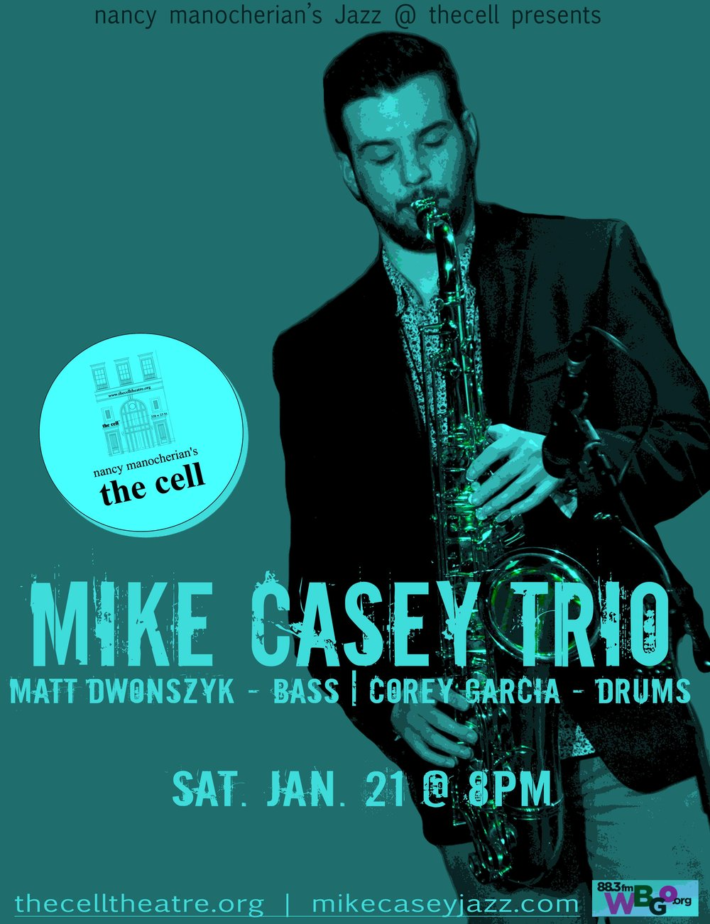 "Saxophonist, songwriter, and teaching artist  Mike Casey  has been a fixture on the Hartford jazz scene and beyond since 2011, when he began attending the acclaimed  Jackie McLean  Institute of Jazz at the University of Harford's Hartt School. In 2015, Mike was one of 24 young jazz composers worldwide chosen by Jason Moran to participate in the prestigious ""Betty Carter Jazz Ahead"" Program at the Kennedy Center in Washington, DC where he studied with an all-star faculty including  Eric Harland, JD Allen, Eric Revis, Cyrus Chestnut , and  Jason Moran .   After a sold out NYC debut at the Minton's in Harlem in September 2016, Mike went on to accomplish an incredible feat: the crowdfunding campaign for his debut album ""The Sound of Surprise: Live at The Side Door"" (due for a February 2017 release) reached 111% funded in under 30 days. His resume includes appearances with  Charles Tolliver, DJ Logic, Brandee Younger, Zaccai Curtis, Tarus Mateen  and  Marc Cary , whose project  ""The Harlem Sessions""  features Mike as an original member.  Mike has enchanted audiences young & old alike, performing a unique blend of upbeat, accessible, original music and exciting arrangements of jazz standards with a mature lyricism and a sound that commands the attention of the audience."