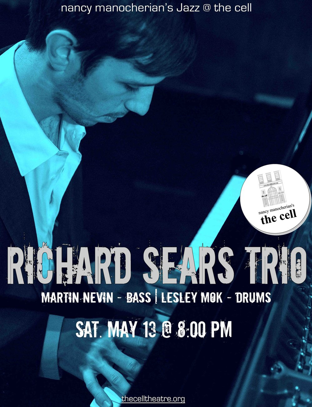 "Pianist Richard Sears possesses an original voice as an improvisor and composer. His composition has been recognized by grants from the Aaron Copland Fund and the Los Angeles Jazz Society. As a performer, Richard has appeared with the likes of Chick Corea, Mark Turner, Muhal Richard Abrams, Joshua Redman, and Billy Hart.  His most recent release, ""Altadena"", features the legendary drummer, Albert ""Tootie"" Heath performing with Richard's sextet. ""Altadena"" earned 4 stars in Downbeat Magazine, and was named ""one of 2016's best release"" by AllAboutJazz.  This concert will feature Martin Nevin on bass, and a prodigious young drummer named Lesley Mok. The trio will perform original compositions and lesser heard jazz compositions.  ""Great jazz performances take a listener to a realm that's both intimately familiar and bracingly new. This exceptional young trio led by pianist Richard Sears dwells in that sweet spot between tradition and discovery. While many of his contemporaries are casting a wide net for influences, Sears and his bandmates are savvy post-bop explorers dedicated to expanding the jazz idiom from within.""   – Andrew Gilbert, San Francisco Chronicle"
