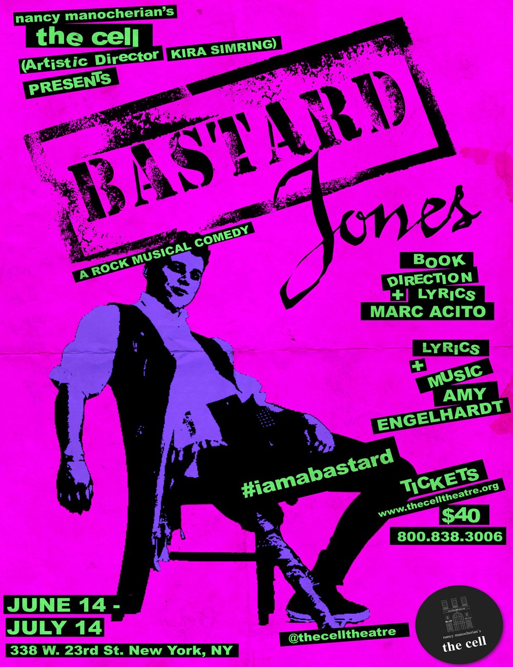Based on Henry Fieldings bawdy 18th century novel, Bastard Jones is a rollicking adventure of deception, misunderstanding and bed-hopping. With book, lyrics, and direction by Marc Acito (Allegiance , Chasing Rainbows) and music by Amy Engelhardt, Bastard Jones centers on Tom Jones, a charming bastard-born himbo with a heart of gold and a knack for trouble.  Toms expression of his natural self gets him banished from the only home he knows, leading him to conscription in the army, a half-naked romp at a country inn and a stint as the boy-toy to an aristocrat whose machinations make Dangerous Liaisons look like childs play.  Because Bastard Jones is about young people being banished simply for being themselves, 100% of the productions profits will benefit Cyndi Laupers True Colors Fund.