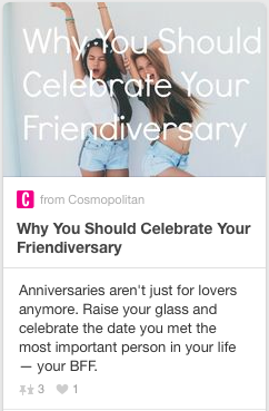 Friendiversary: anniversaries are just for lovers anymore.