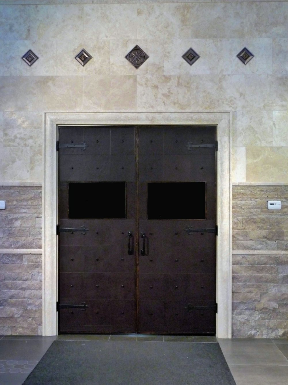 Echelon Collection - Door installation - Mahogany Buffalo with studs.jpg