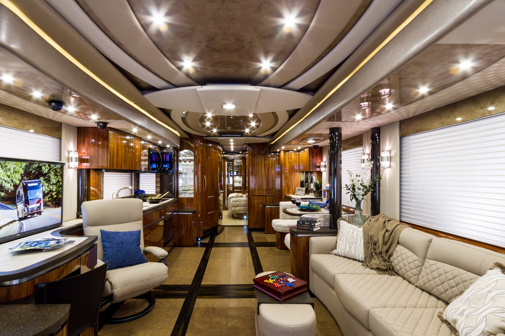 Recreational Vehicule With Leather Floors and Counters