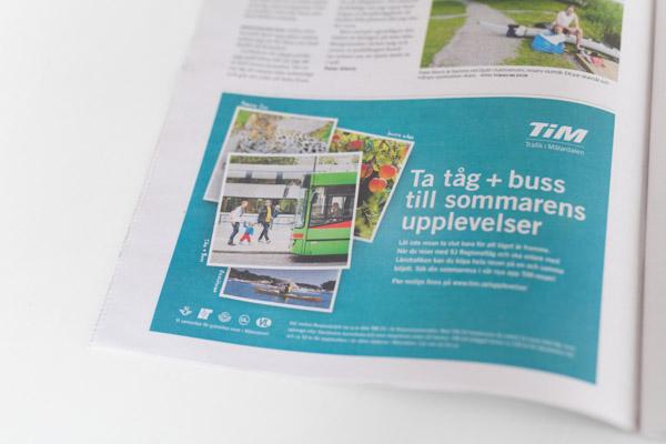 Kund: TiM publicerad i bilagen Mälarsommar / Eskilstuna-Kuriren