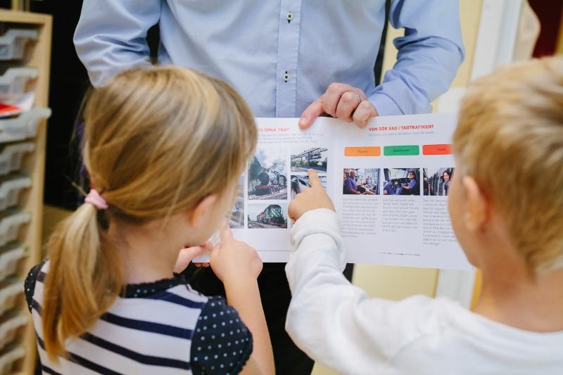 Fotografering åt Stockholmståg på förskola i Kallhäll