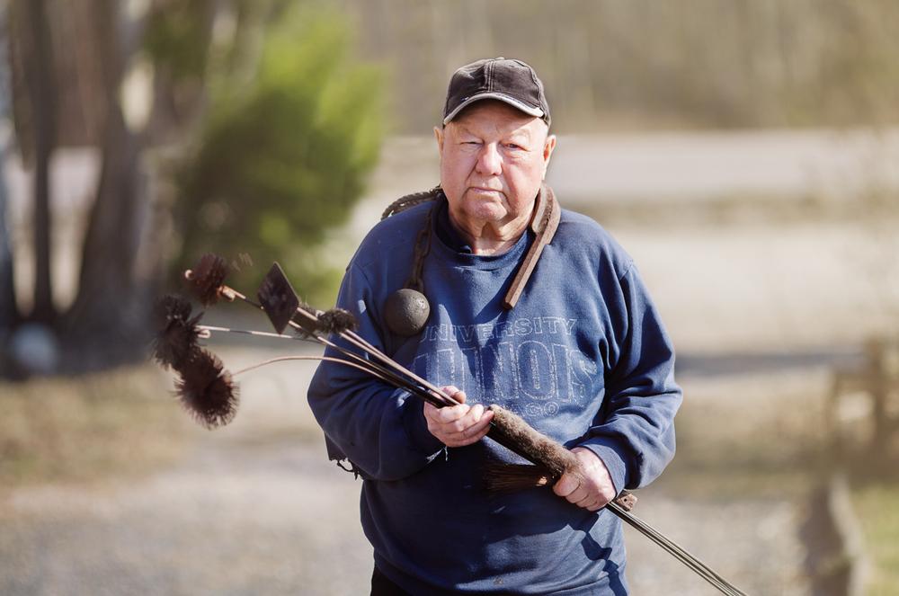 Porträtt på Lennart, fd skorstensfejarmästare